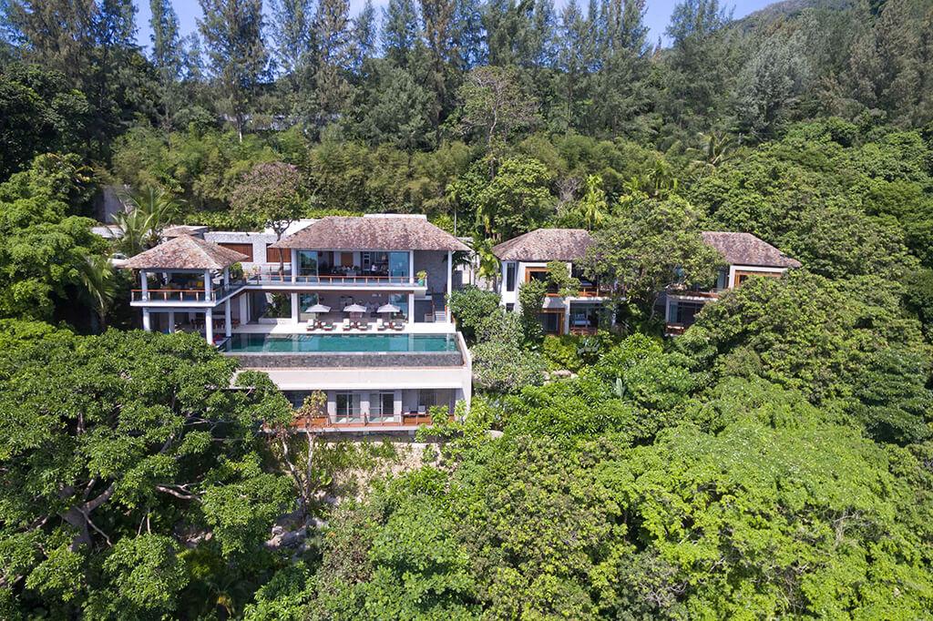 Baan Banyan - Aerial vew of villa