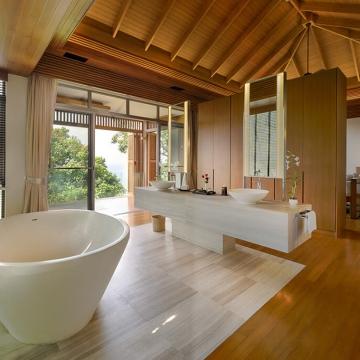 Baan Banyan - Suite Room 2 Bathtub and Vanity